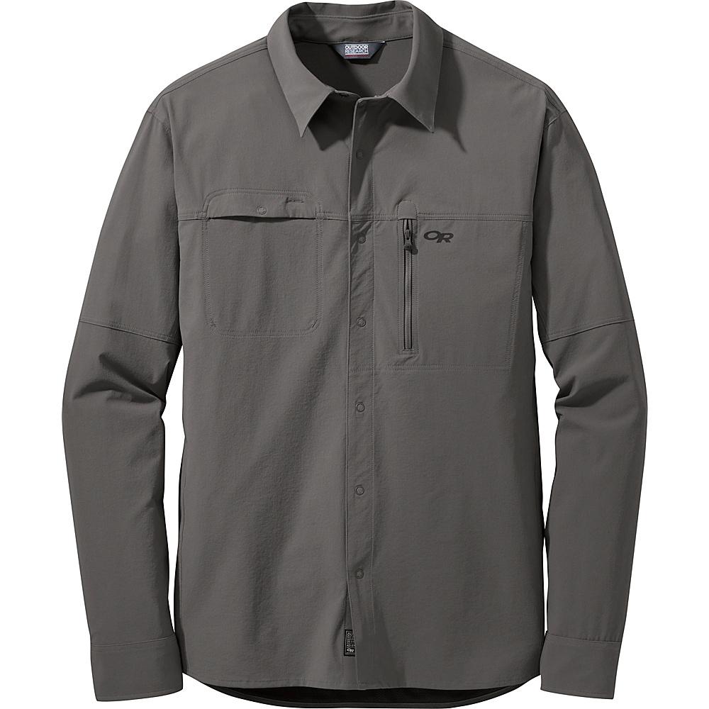 Outdoor Research Mens Ferrosi Utility L/S Shirt S - Pewter - Outdoor Research Mens Apparel - Apparel & Footwear, Men's Apparel