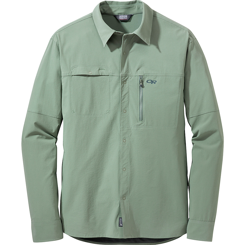 Outdoor Research Mens Ferrosi Utility L/S Shirt XL - Sage - Outdoor Research Mens Apparel - Apparel & Footwear, Men's Apparel