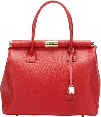 Giulia Massari Top Handle Satchel Bordo - Giulia Massari Leather Handbags