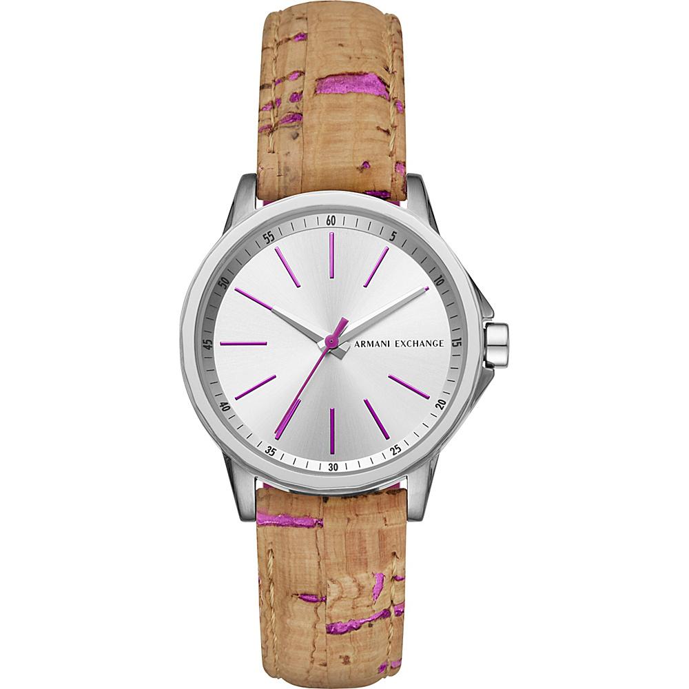 A/X Armani Exchange Dress Watch Beige/Pink - A/X Armani Exchange Watches