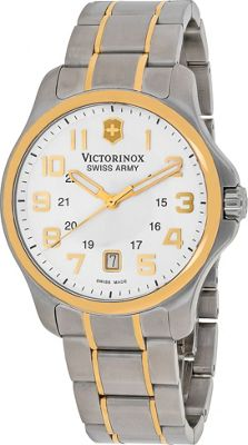 Swiss Army Watches Men's Officers Gent Watch Silver - Swiss Army Watches Watches