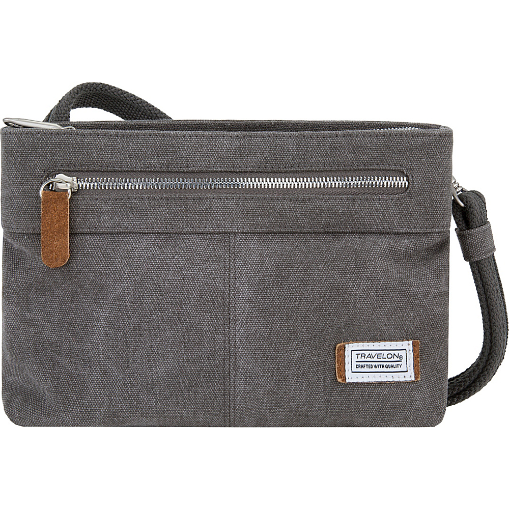 Travelon Anti-Theft Heritage Small Crossbody Pewter - Travelon Fabric Handbags - Handbags, Fabric Handbags