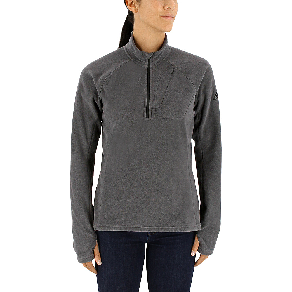 adidas outdoor Womens Reachout 1/2 Zip Pullover XS - Utility Black - adidas outdoor Womens Apparel - Apparel & Footwear, Women's Apparel