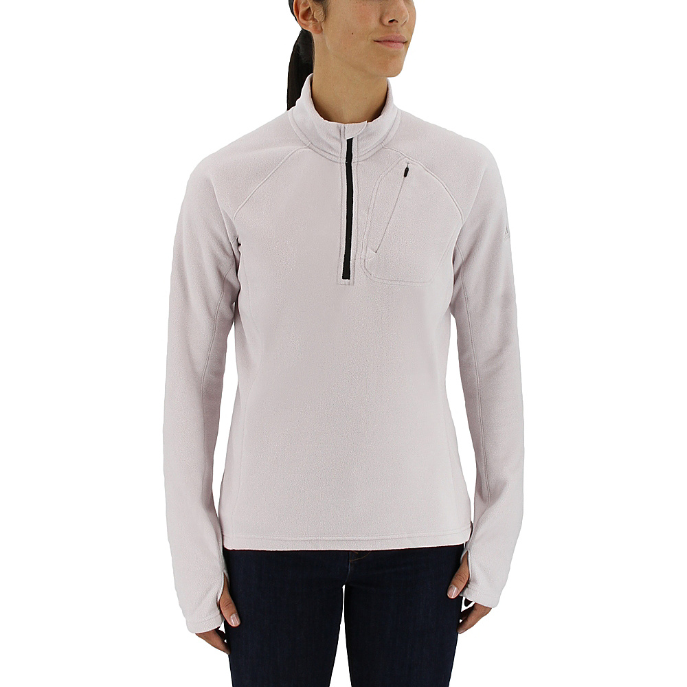 adidas outdoor Womens Reachout 1/2 Zip Pullover M - Ice Purple - adidas outdoor Womens Apparel - Apparel & Footwear, Women's Apparel