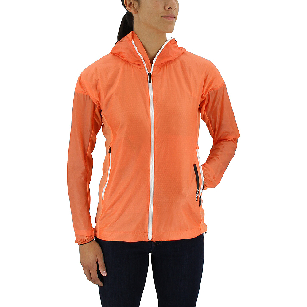 adidas outdoor Womens Agravic Alpha Shield Hoodie XL - Easy Orange - adidas outdoor Womens Apparel - Apparel & Footwear, Women's Apparel