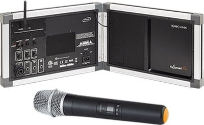 SMK-Link GoSpeak! Pro Ultra-Portable Amplification System with Wireless Handheld Microphone Silver - SMK-Link Portable Entertainment
