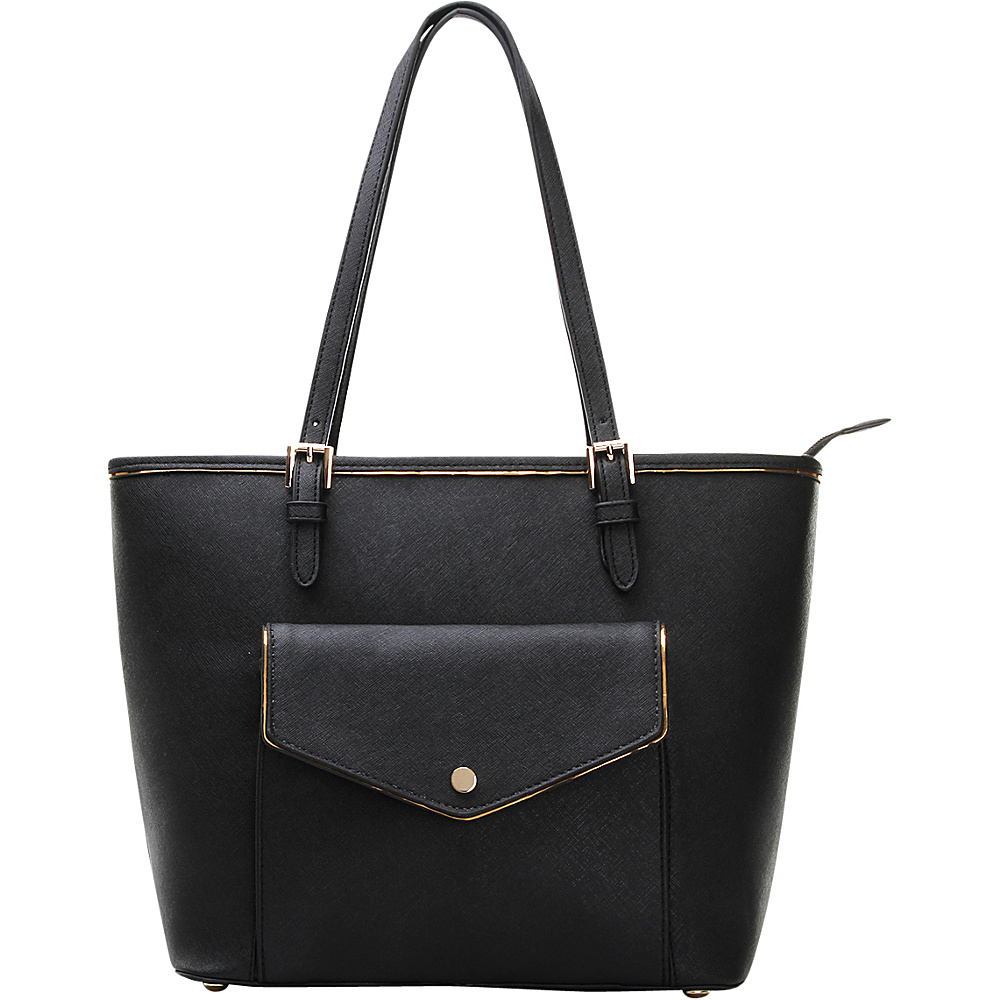 MKF Collection by Mia K. Farrow Envelope Shoulder Tote Black - MKF Collection by Mia K. Farrow Manmade Handbags - Handbags, Manmade Handbags