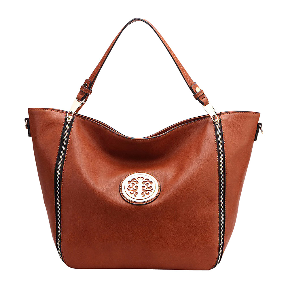 MKF Collection by Mia K. Farrow Mandy Tote Brown - MKF Collection by Mia K. Farrow Manmade Handbags - Handbags, Manmade Handbags