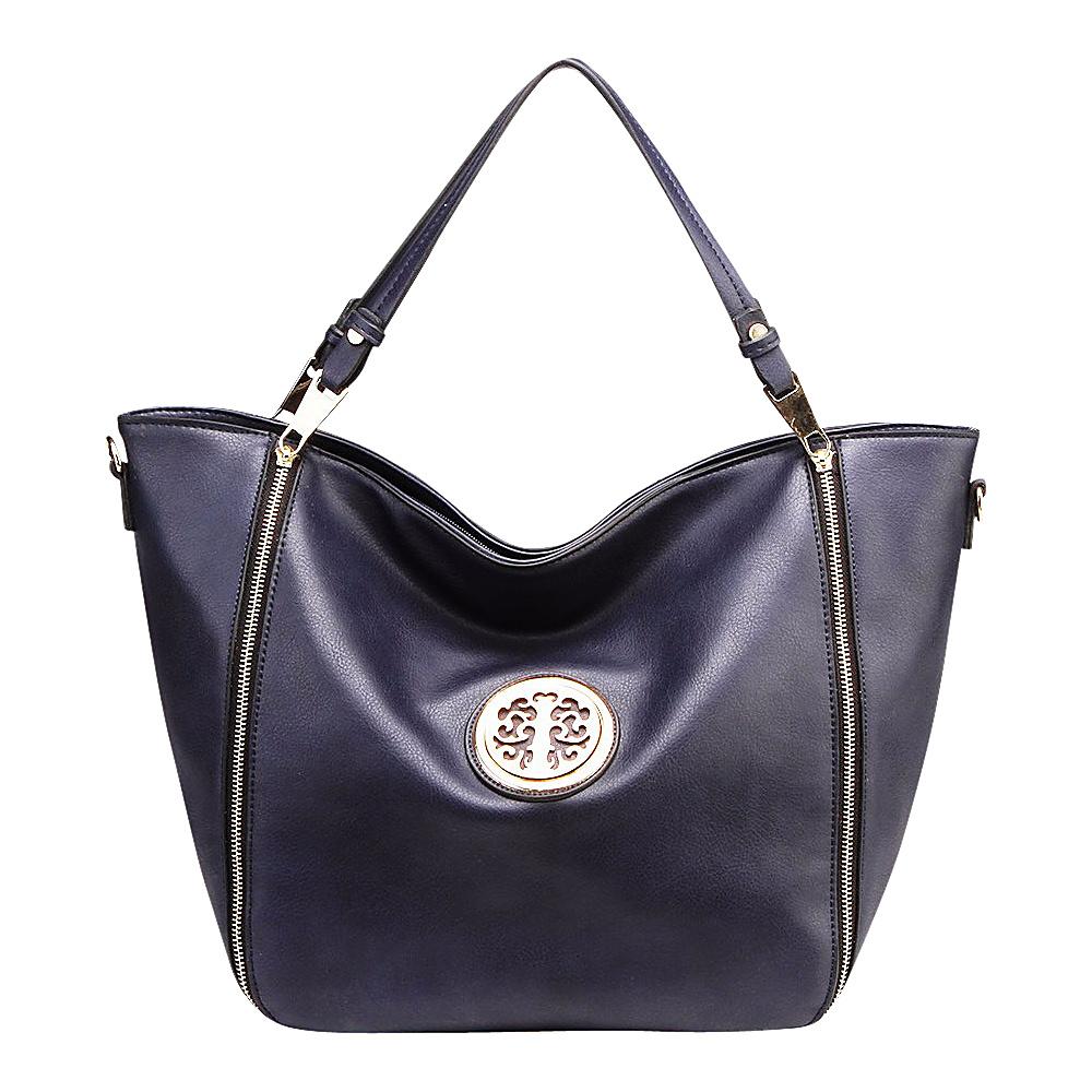 MKF Collection Mandy Tote Dark Blue - MKF Collection Manmade Handbags - Handbags, Manmade Handbags