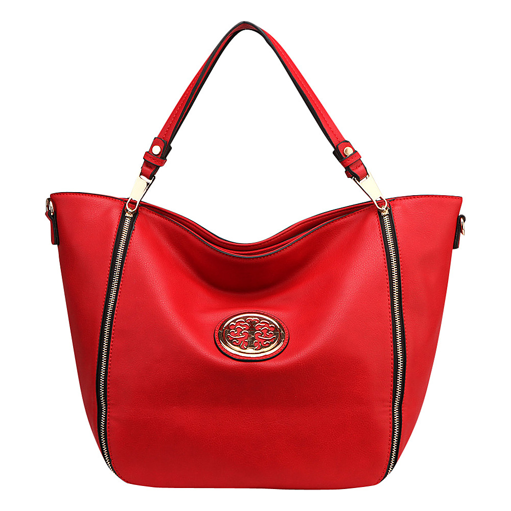 MKF Collection by Mia K. Farrow Mandy Tote Red - MKF Collection by Mia K. Farrow Manmade Handbags - Handbags, Manmade Handbags