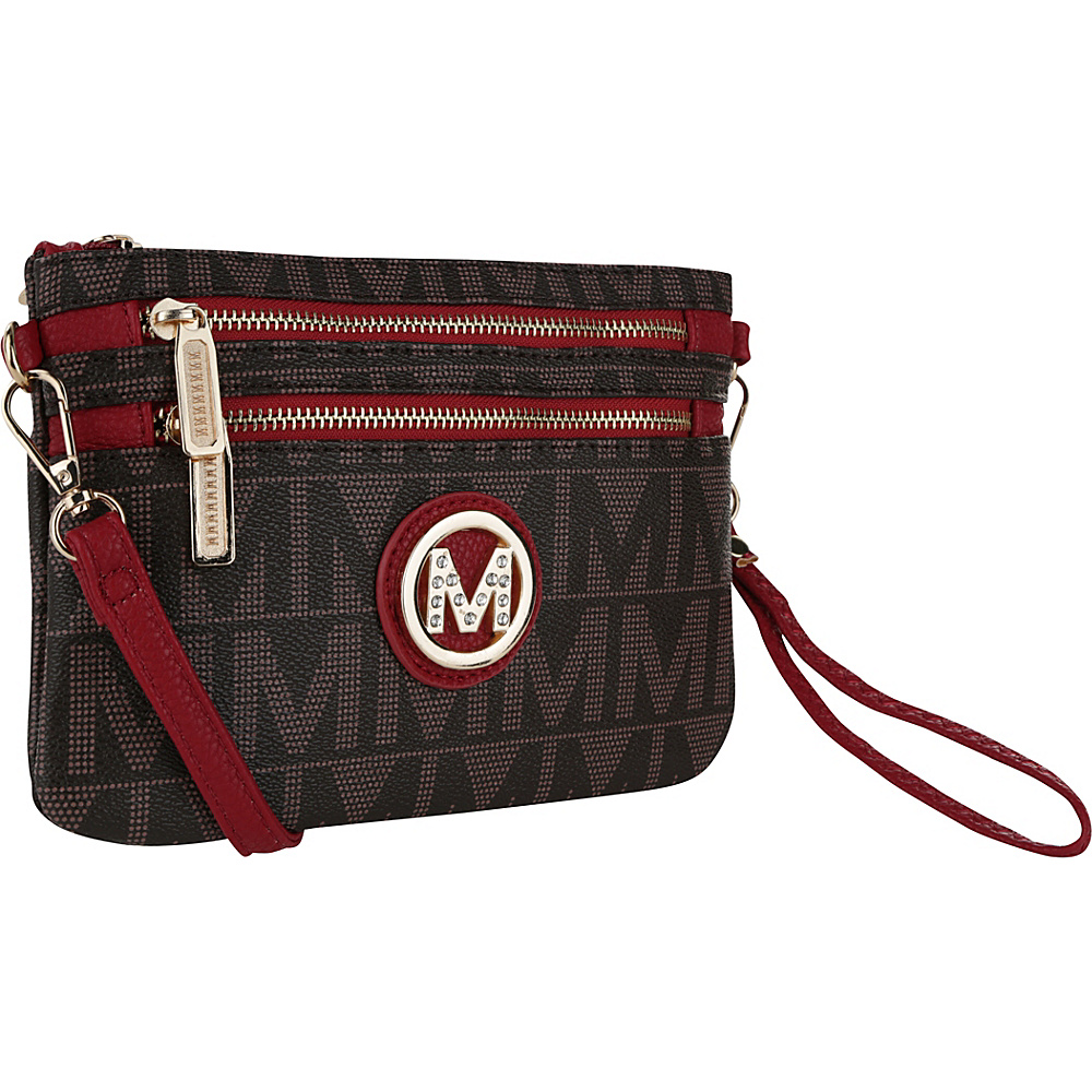 MKF Collection Monaco M Signature Crossbody and Wristlet Red - MKF Collection Manmade Handbags - Handbags, Manmade Handbags