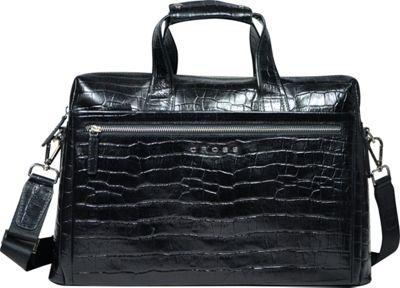 Cross Men's Zaragoza Leather Men Briefcase Black - Cross Non-Wheeled Business Cases