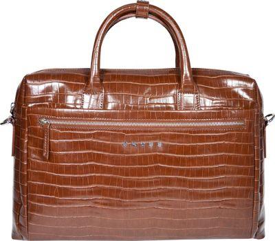 Cross Men's Zaragoza Leather Men Briefcase Brown/Camel - Cross Non-Wheeled Business Cases