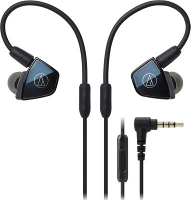 Audio Technica In-Ear Quad Armature Driver Headphones with In-line Mic & Control Black - Audio Technica Headphones & Speakers