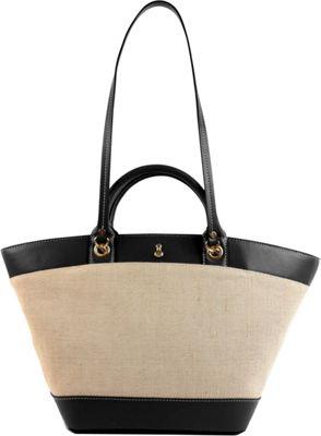 London Fog Handbags Poole Seasonal Shopper Black - London Fog Handbags Fabric Handbags