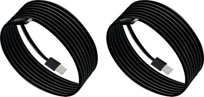 PURTECH Apple MFI Certified Lightning Cable 6.6 Feet Strong Jacket - Sync/Charge - 2PK Jet Black - PURTECH Electronic Accessories