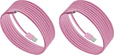 PURTECH Apple MFI Certified Lightning Cable 6.6 Feet Strong Jacket - Sync/Charge - 2PK Matte Pink - PURTECH Electronic Accessories