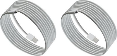 PURTECH Apple MFI Certified Lightning Cable 6.6 Feet Strong Jacket - Sync/Charge - 2PK White - PURTECH Electronic Accessories