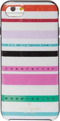 kate spade new york Jeweled Fiesta Stripe iPhone 7 Case Cream Multi - kate spade new york Electronic Cases