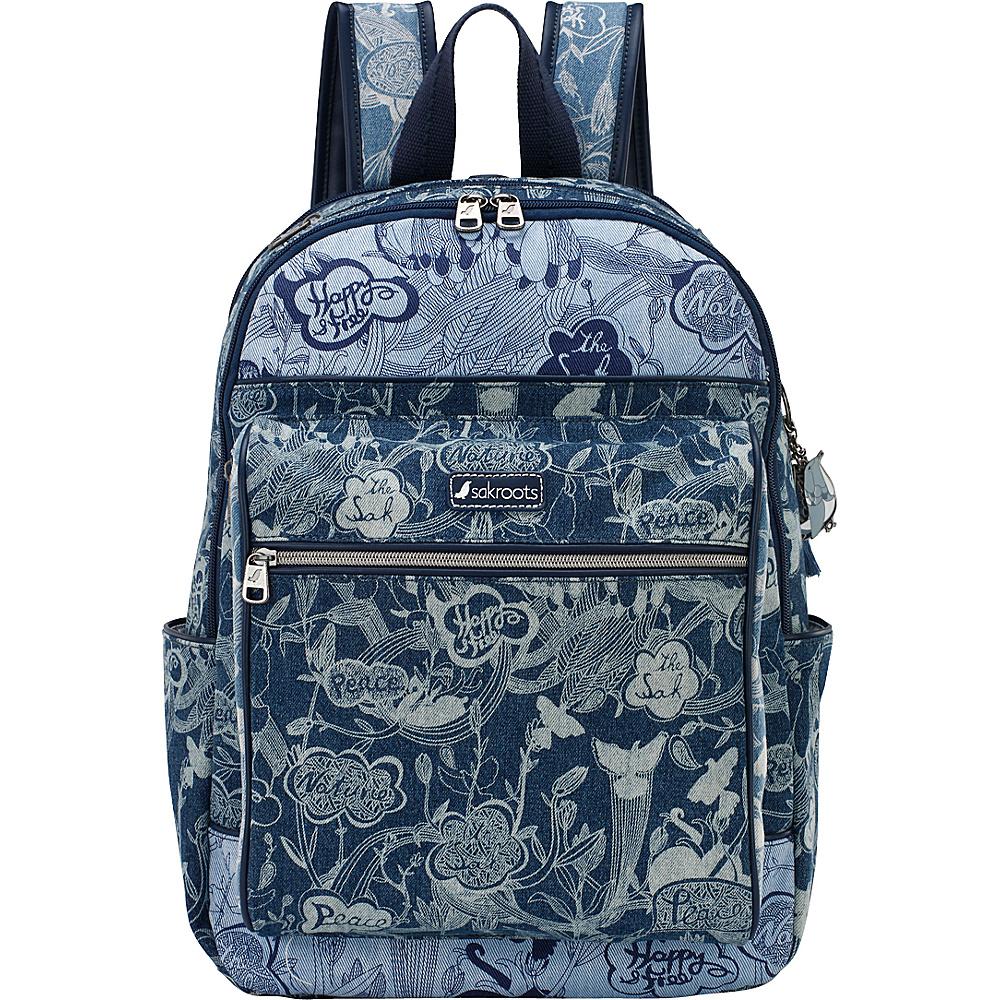 Sakroots Artist Circle Cargo Backpack Denim Peace - Sakroots Everyday Backpacks - Backpacks, Everyday Backpacks