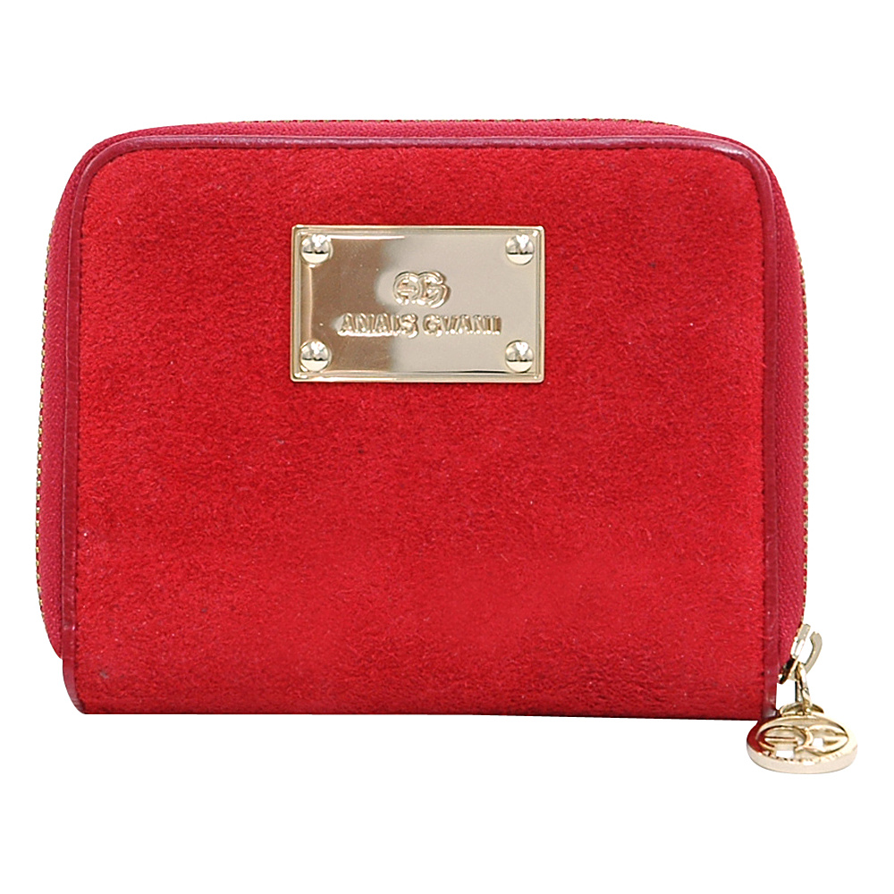 Dasein Zip-Around Wallet with Gold Logo Emblem Red - Dasein Womens Wallets - Women's SLG, Women's Wallets