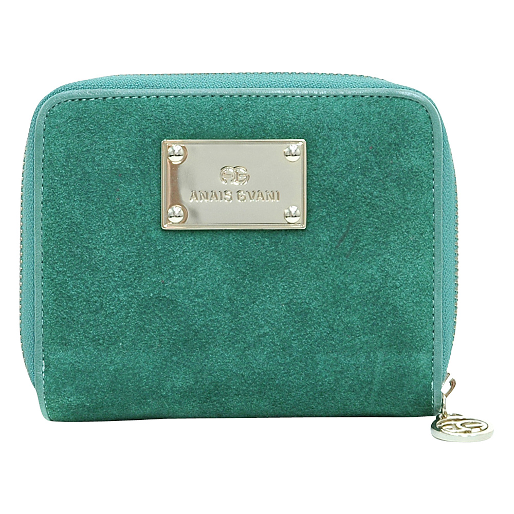 Dasein Zip-Around Wallet with Gold Logo Emblem Light Green - Dasein Womens Wallets - Women's SLG, Women's Wallets