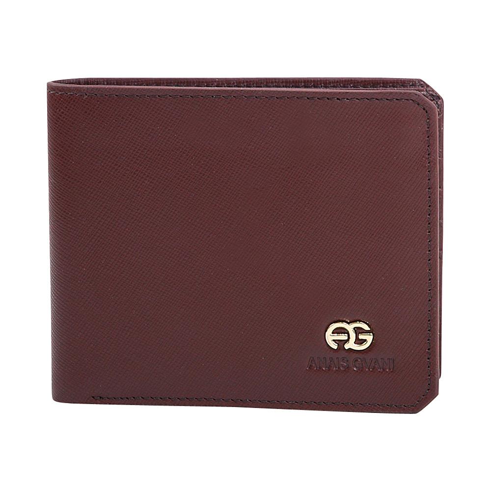 Dasein Mens Genuine Fine Grain Leather Wallet with Cut-off Corner Style Brown - Dasein Mens Wallets - Work Bags & Briefcases, Men's Wallets