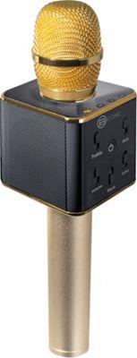B iconic Karaoke Mic & Bluetooth Speaker Gold - B iconic Headphones & Speakers
