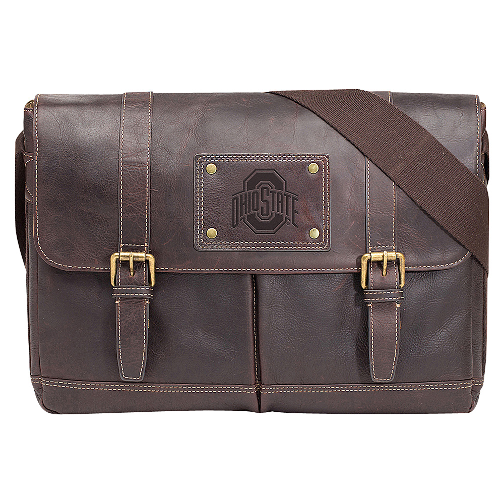 Jack Mason League NCAA Gridiron Messenger Bag Ohio State Buckeyes - Jack Mason League Messenger Bags - Work Bags & Briefcases, Messenger Bags