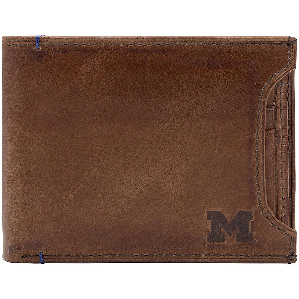 Jack Mason League NCAA Campus Bifold 2 in 1 Michigan Wolverines - Jack Mason League Mens Wallets - Work Bags & Briefcases, Men's Wallets