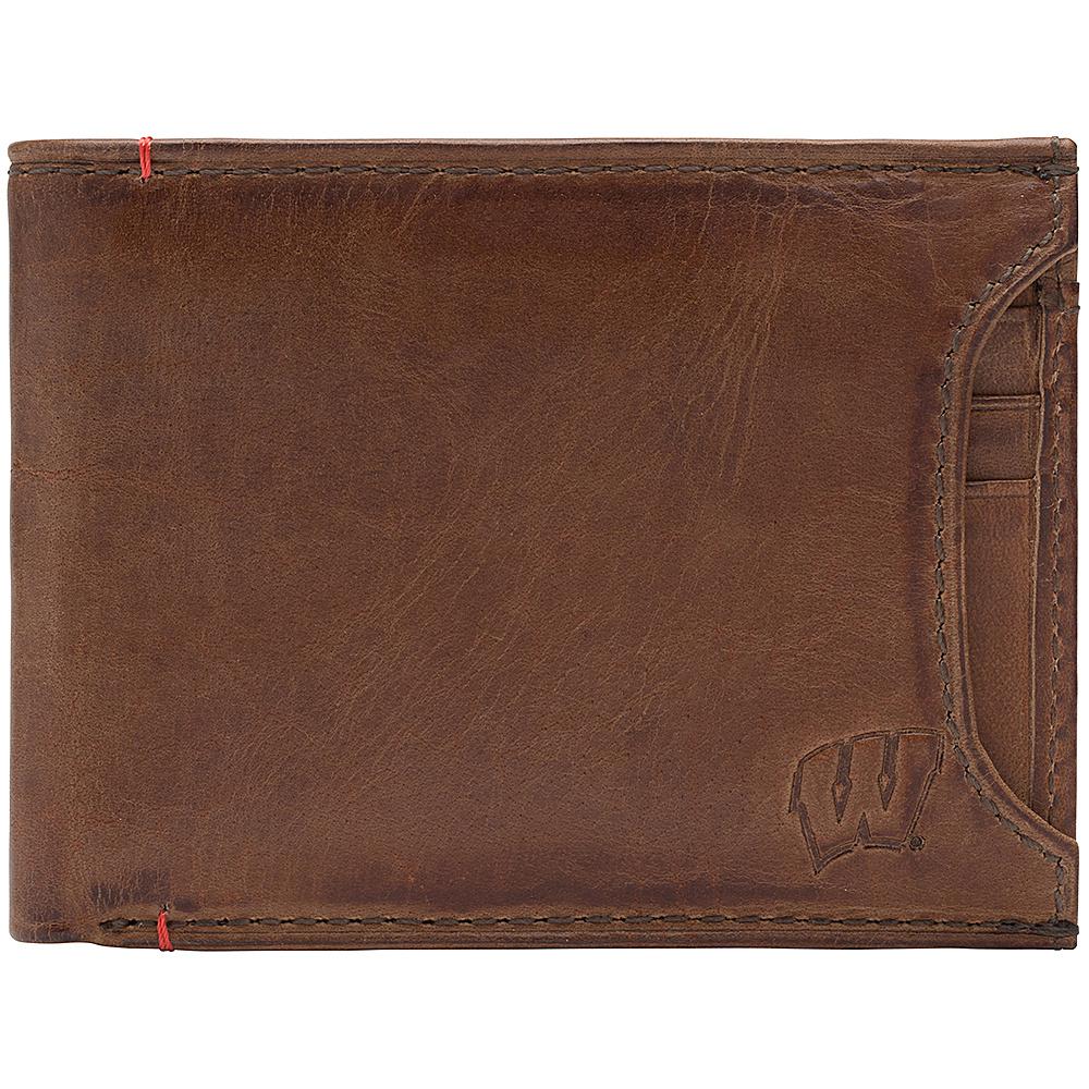 Jack Mason League NCAA Campus Bifold 2 in 1 Wisconsin Badgers - Jack Mason League Mens Wallets - Work Bags & Briefcases, Men's Wallets
