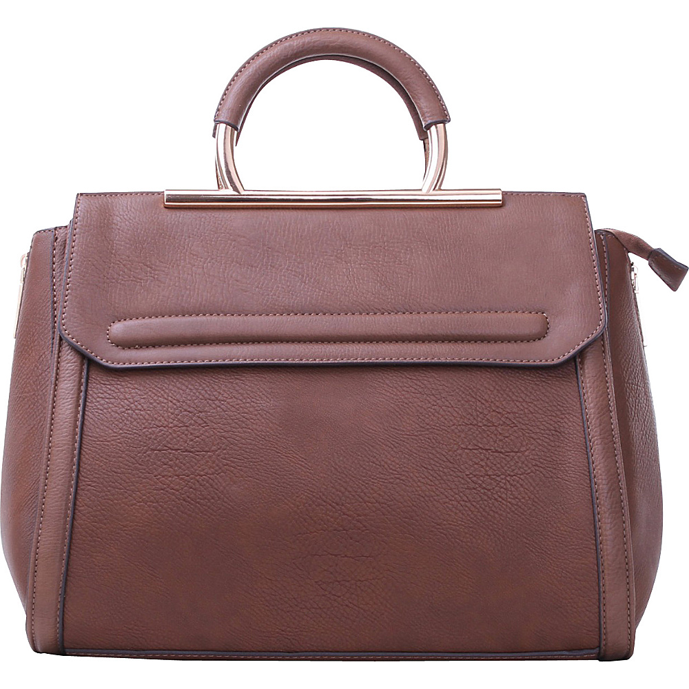 MKF Collection Two-Tone Satchel with Removable Strap Coffee - MKF Collection Manmade Handbags - Handbags, Manmade Handbags