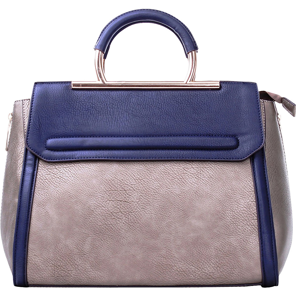 MKF Collection Two-Tone Satchel with Removable Strap Silver - MKF Collection Manmade Handbags - Handbags, Manmade Handbags