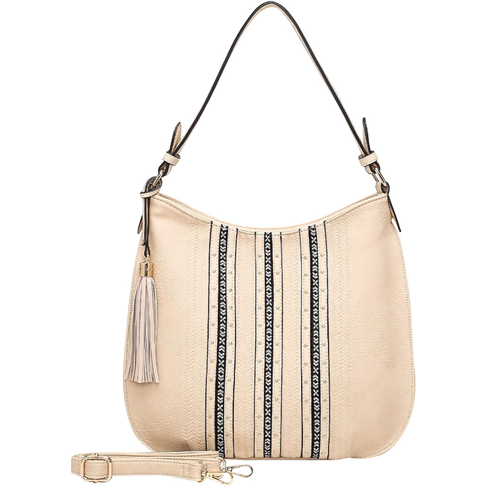 MKF Collection by Mia K. Farrow Gloria Hobo Beige - MKF Collection by Mia K. Farrow Manmade Handbags - Handbags, Manmade Handbags