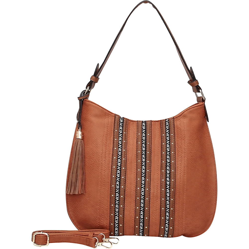 MKF Collection by Mia K. Farrow Gloria Hobo Brown - MKF Collection by Mia K. Farrow Manmade Handbags - Handbags, Manmade Handbags