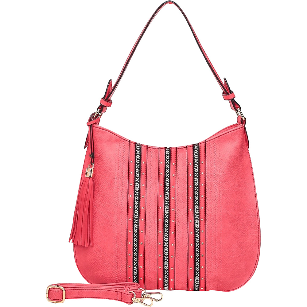 MKF Collection by Mia K. Farrow Gloria Hobo Red - MKF Collection by Mia K. Farrow Manmade Handbags - Handbags, Manmade Handbags
