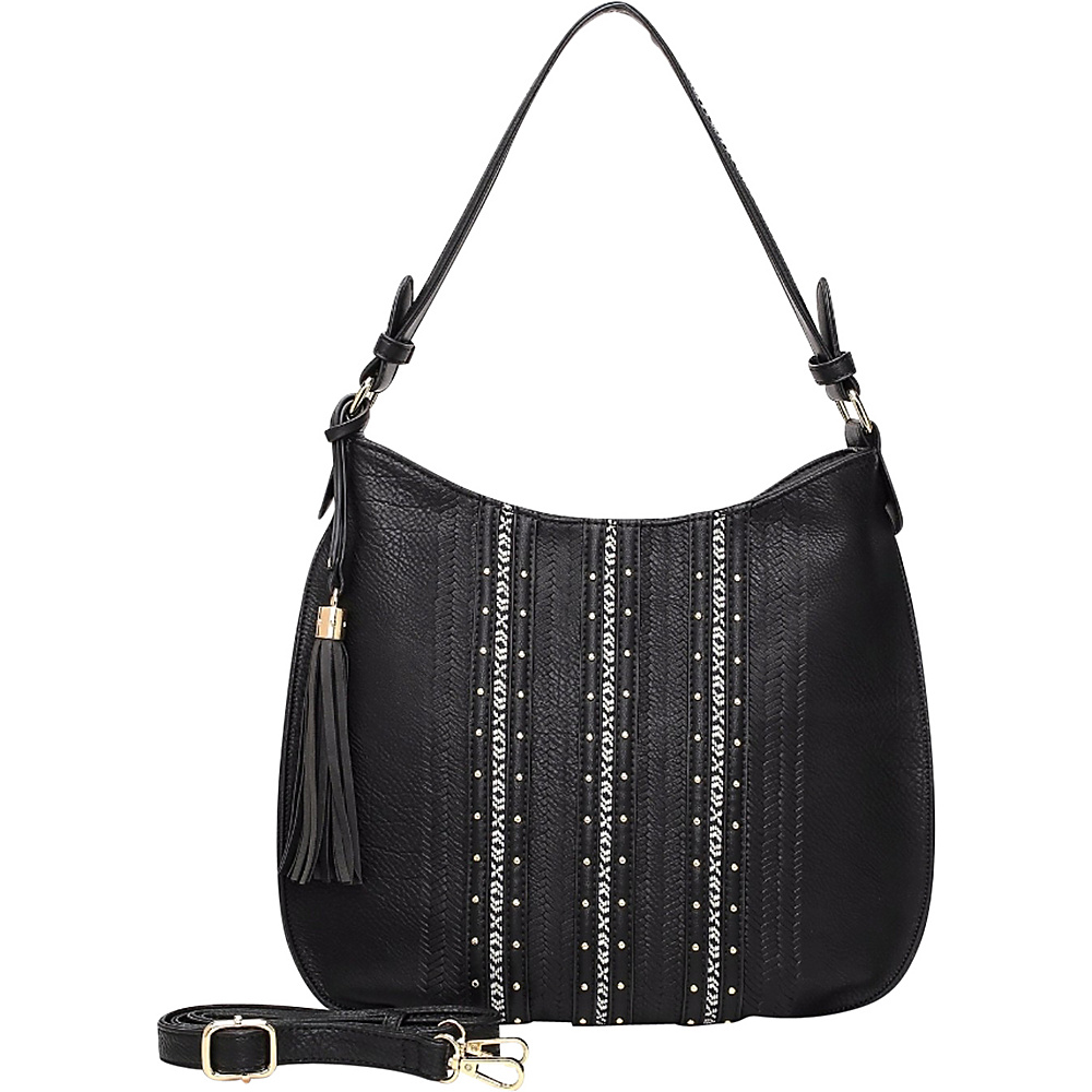 MKF Collection by Mia K. Farrow Gloria Hobo Black - MKF Collection by Mia K. Farrow Manmade Handbags - Handbags, Manmade Handbags