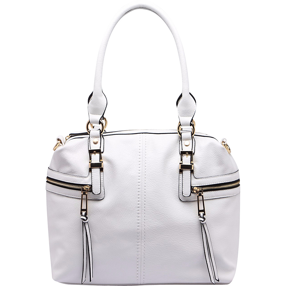 MKF Collection by Mia K. Farrow Chindel Tote White - MKF Collection by Mia K. Farrow Manmade Handbags - Handbags, Manmade Handbags
