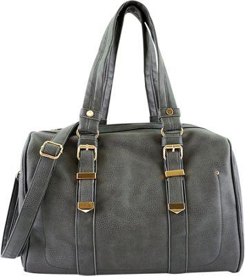 nu G Out of Town Multi Strap Bag Grey - nu G Manmade Handbags