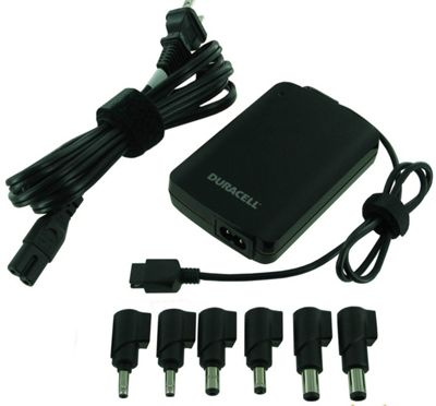 Duracell Universal Slim Laptop Charger Black - Duracell Travel Electronics
