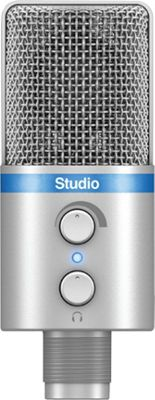 IK Multimedia iRig Mic Studio Large-Diaphragm Digital Microphone Silver - IK Multimedia Electronic Accessories