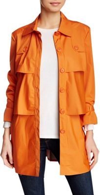 Rolo & Ale Andy 3/4 Sleeve Tiered Utility Trench Coat XS - Poppy - Rolo & Ale Women's Apparel
