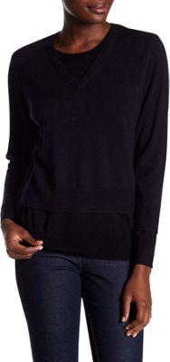 Rolo & Ale Bonnie Wool V-Neck Sweater XS - Navy & Black - Rolo & Ale Women's Apparel