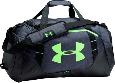 Under Armour Undeniable Medium Duffle 3.0 Stealth Gray/ Black / Quirky Lime - Under Armour Gym Duffels