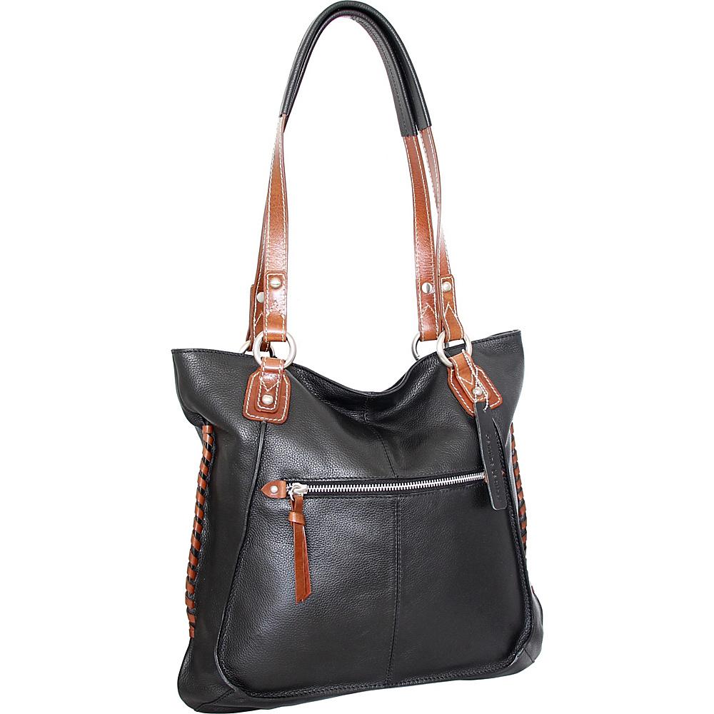 Nino Bossi Tori Tote Black - Nino Bossi Leather Handbags - Handbags, Leather Handbags