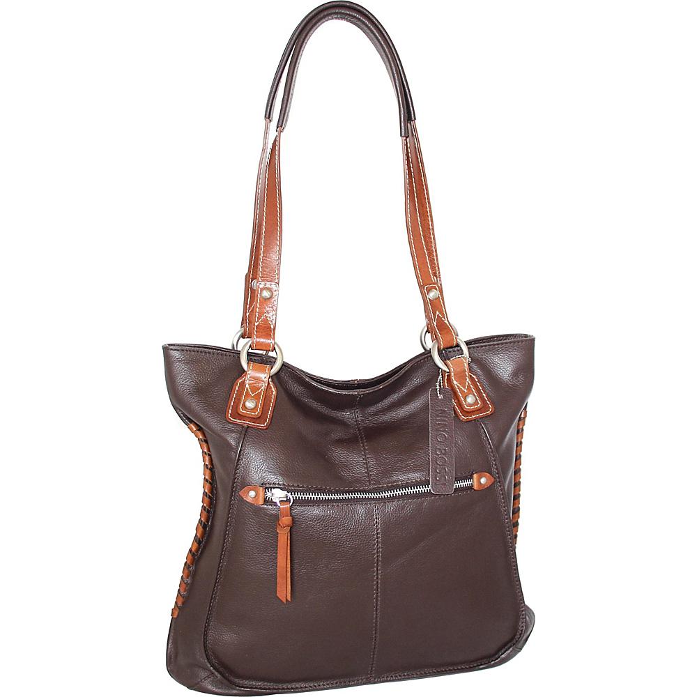 Nino Bossi Tori Tote Chocolate - Nino Bossi Leather Handbags - Handbags, Leather Handbags