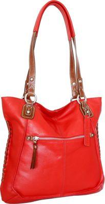 Nino Bossi Tori Tote Tomato - Nino Bossi Leather Handbags