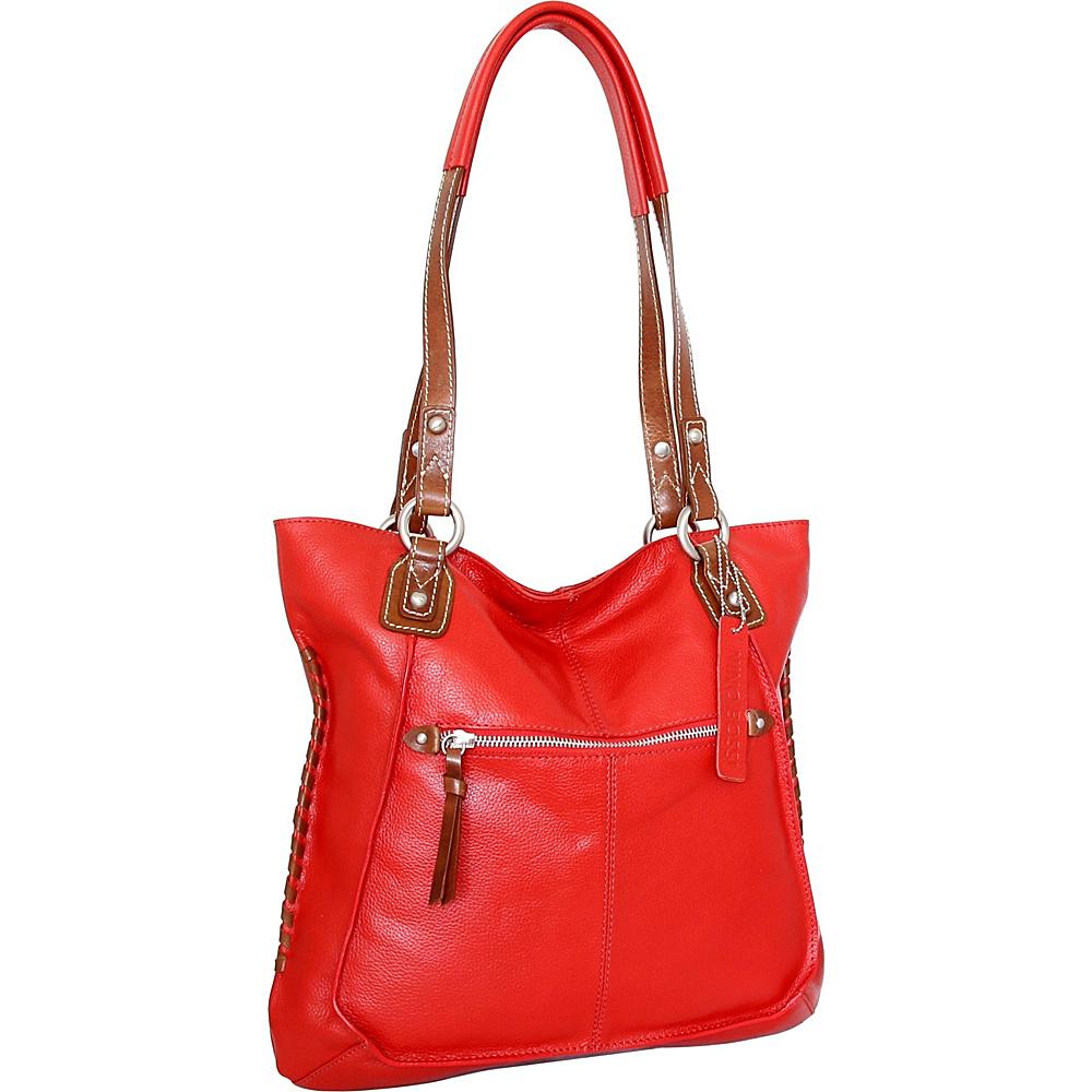 Nino Bossi Tori Tote Tomato - Nino Bossi Leather Handbags - Handbags, Leather Handbags