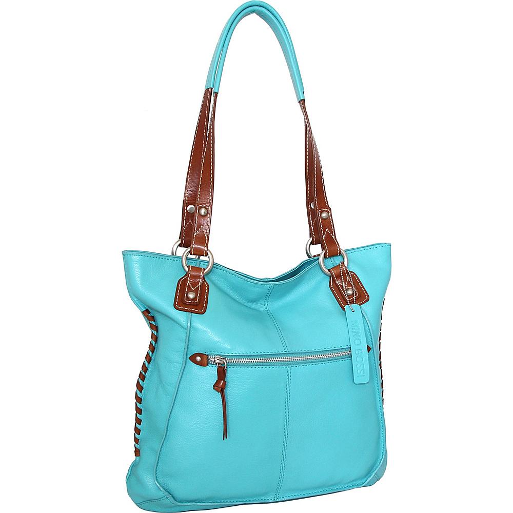 Nino Bossi Tori Tote Turquoise - Nino Bossi Leather Handbags - Handbags, Leather Handbags