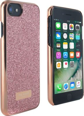 Ted Baker iPhone 6 & 7 Glitter Hardshell Case Rico Rose Gold - Ted Baker Electronic Cases